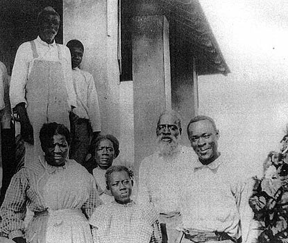The Jones Family on the porch of their Porgy Key home.