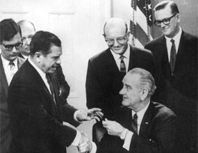 Biscayne National Monument bill is signed into law by President Lyndon Johnson.