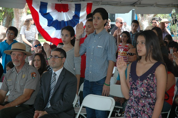 Previous citizenship ceremony at Biscayne National Park.