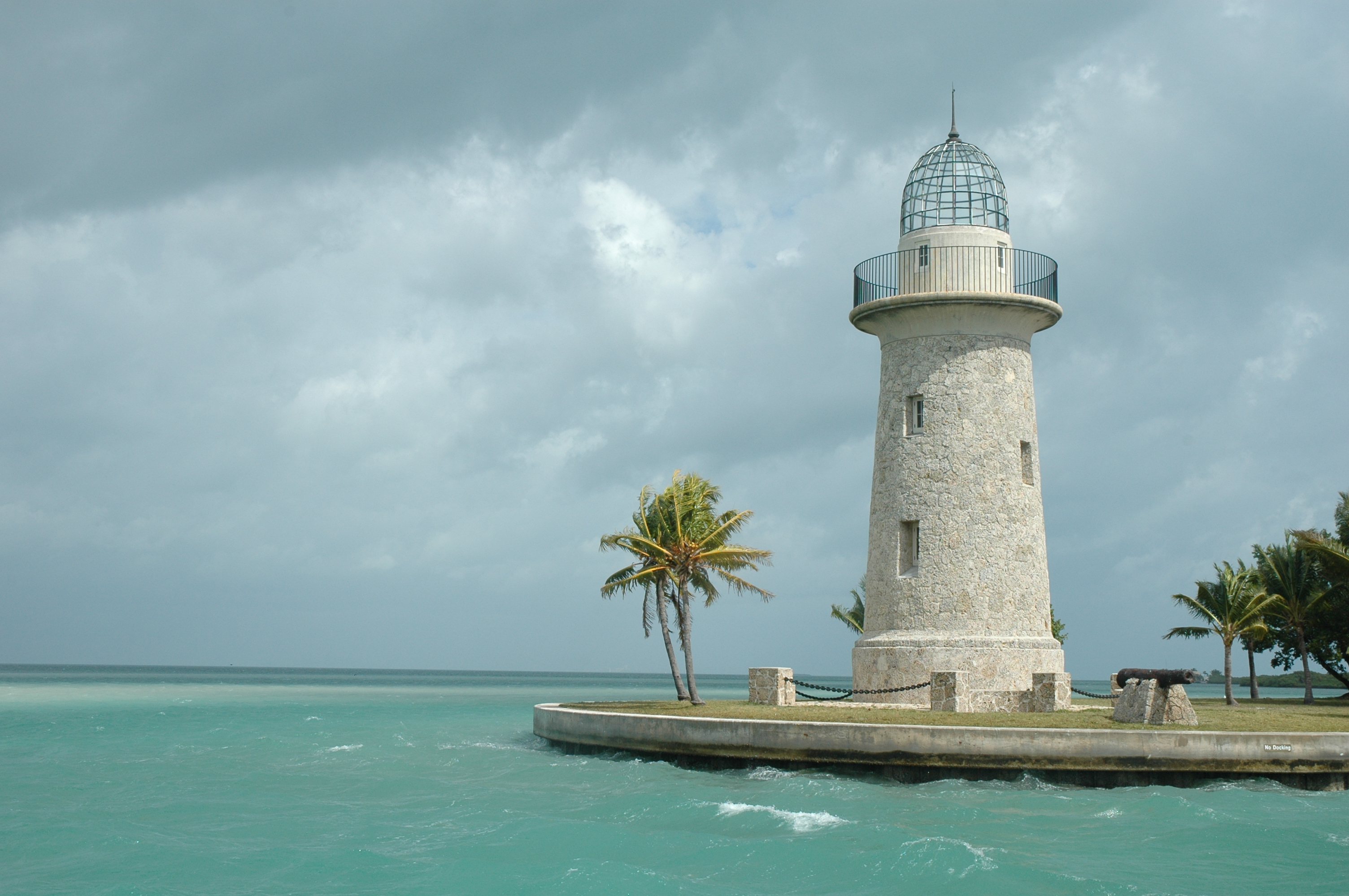 Iconic Boca Chita Key Lighthouse built by Mark Honeywell just before World War II.