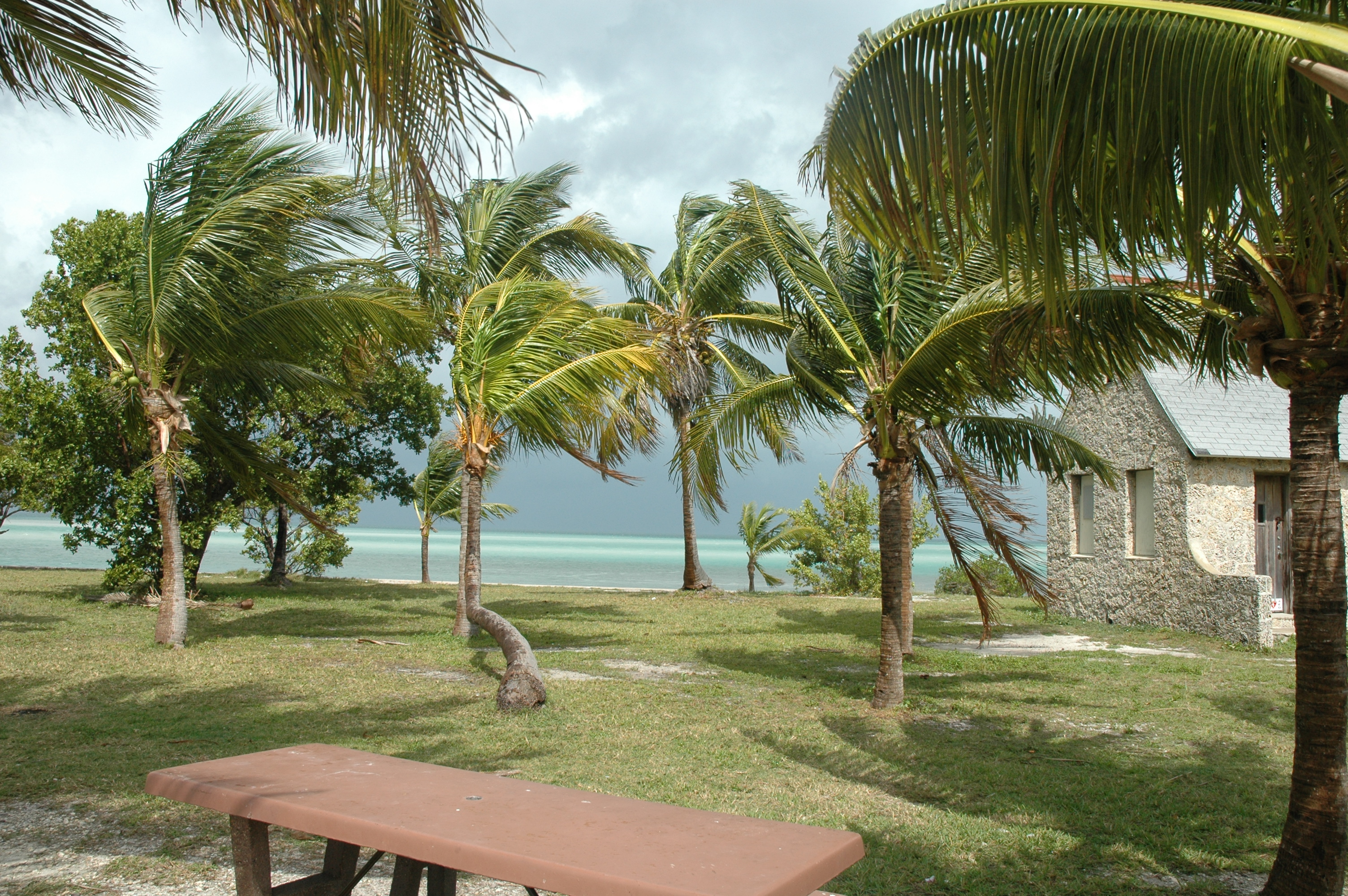 Part of the campground on Boca Chita Key.