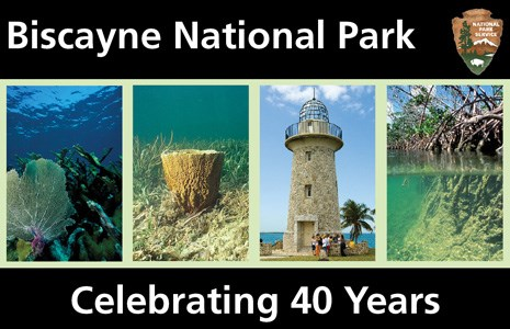 "Montage of park images arranged into a banner with the park name and the message ""celebrating 40 years."""