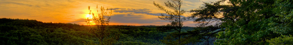 Glowing sunset view from overlook - Photo by Jason Barnett Photography