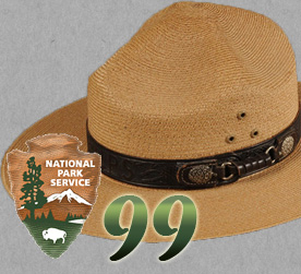 Ranger hat with Park Service arrowhead