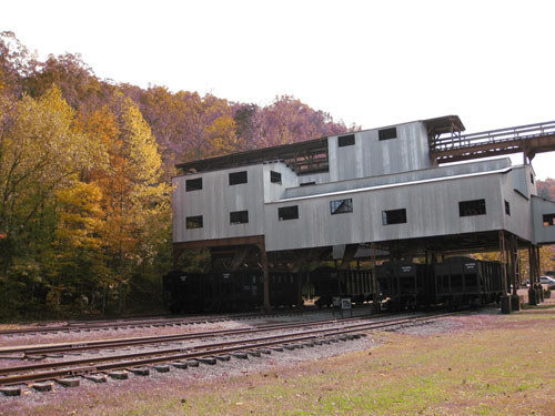 Blue Heron Coal Tipple with fall trees