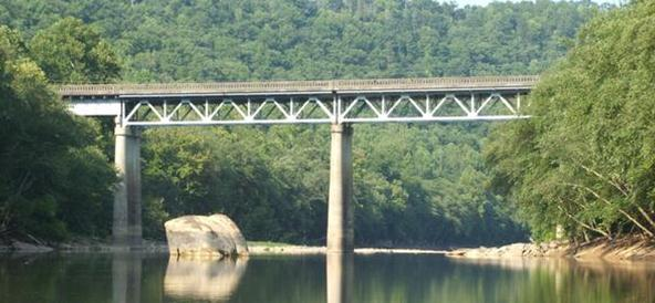 Yamacraw bridge over the Big South Fork river