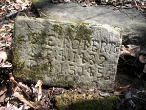 cemetery stone with Roberts name