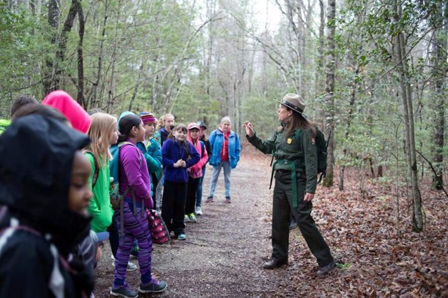 Park Ranger with students
