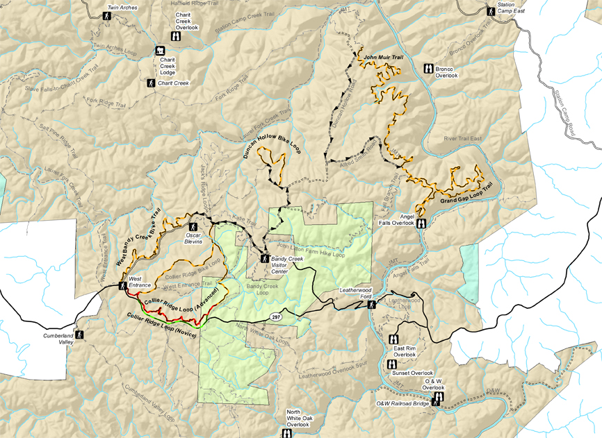 map of mountain bike trails in the park