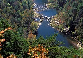 Big South Fork River from the East Rim Overlook.
