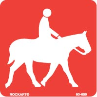 horseback riding trail symbol