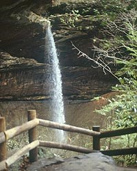 Slave Falls as seen from the trail viewing point.