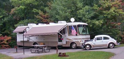Motor Home camper at Big South Fork campground.