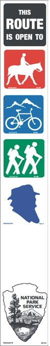Example of a sign which will be placed at a trailhead.