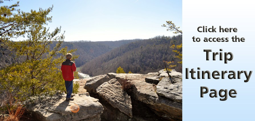 young hiker with link to itineraries page