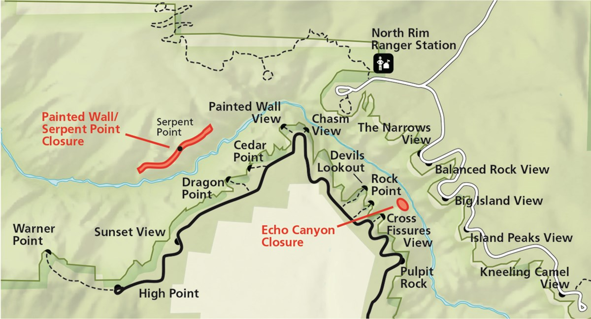 BLCA Climbing Closure Map
