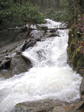 Dixon Creek flows down from Grandfather Mountain at Milepost 301