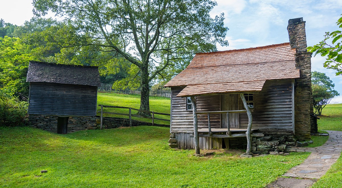 Historic Appalachian cabin once owned by Brinegar Family