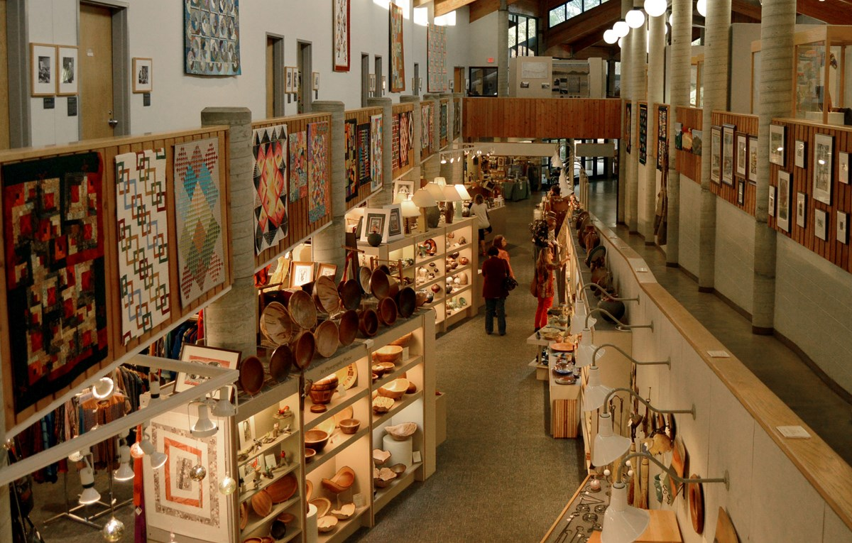Aerial View of craft gallery in Folk Art Center