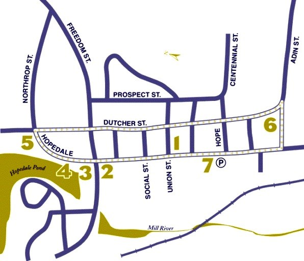 Hopedale Walking Tour Map