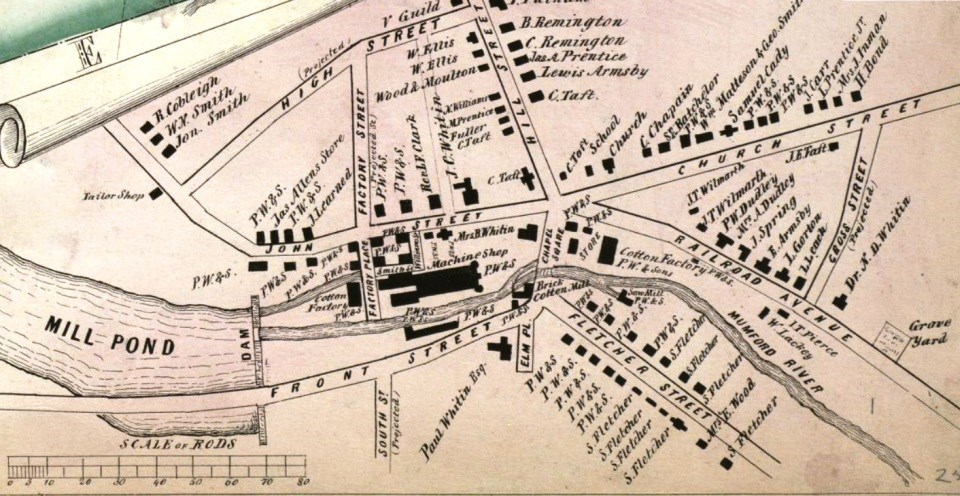 1849 Map of Whitinsville