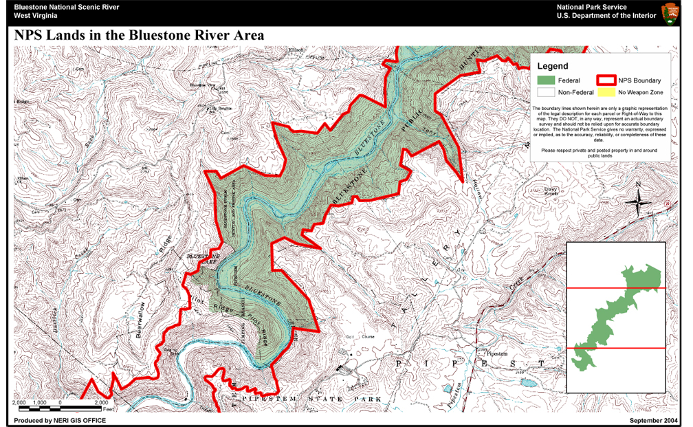 Hunting bluestone national scenic river u s national for Virginia fishing license cost