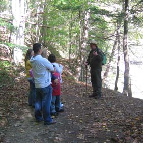 Ranger led hike along the Bluestone River
