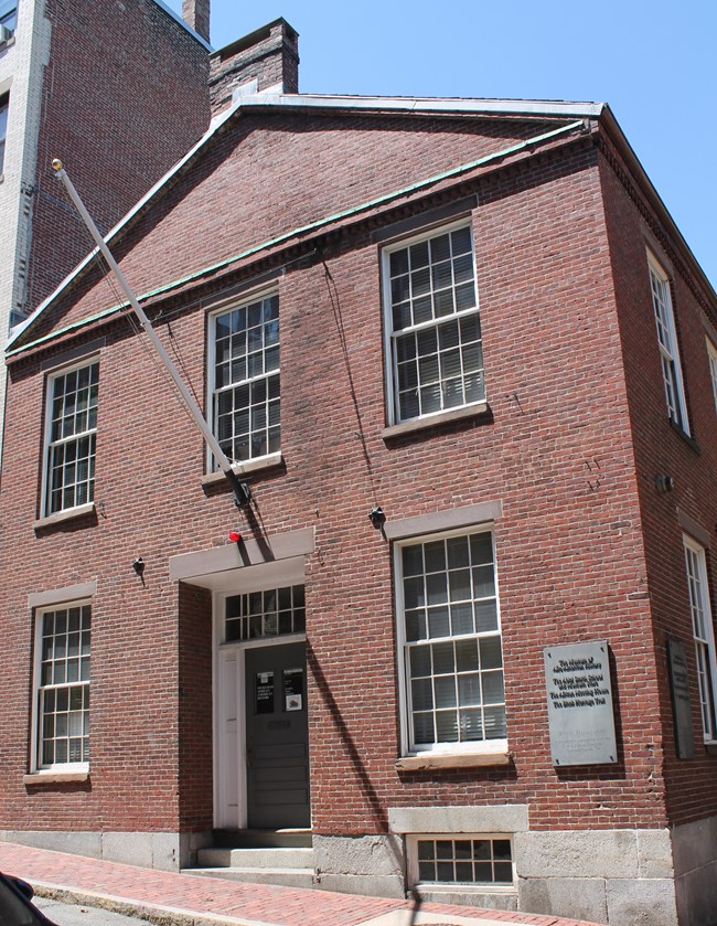 The Museum of African American History rests on the North Slope of Beacon Hill in the former Abiel Smith School.