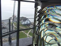 Closer view of Boston Light's Fresnel lens