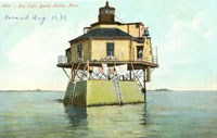 Vintage Postcard of Bug Light