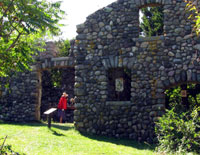 Ruins of a stone farmhouse can still be seen on Bumpkin Island