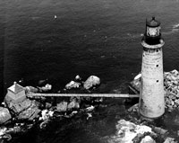 The Graves Light with footbridge, date unknown