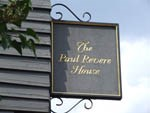 Paul Revere House sign