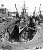 Ship in a dry dock