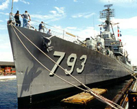 USS Cassin Young at pier 1 Charlestown Navy Yard