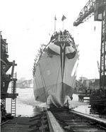Launching of USS Mason