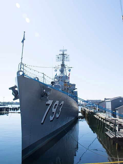 USS Cassin Young at Pier 1 at the Charlestown Navy Yard