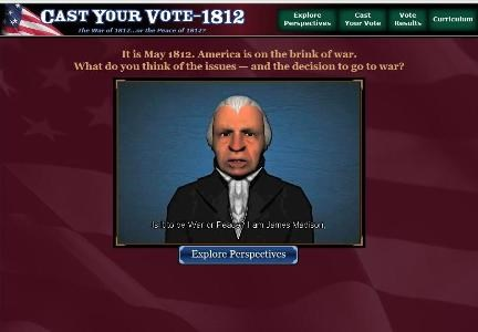 "President Madison asks you to ""Cast Your Vote!"""