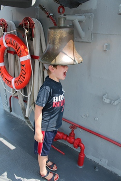 Having fun on USS CASSIN YOUNG