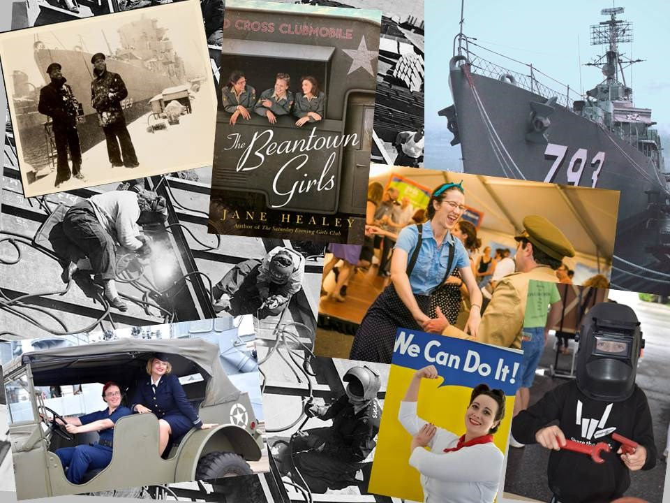 A Collage of five photographs depicting some of the activities found at the event
