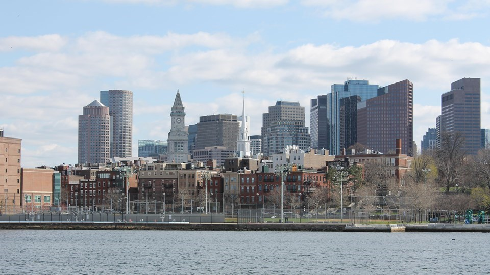 Boston Skyline from Charlestown Navy Yard