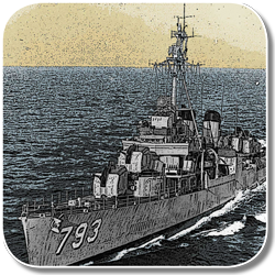 Icon showing USS Cassin Young