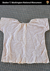 Flax shirt that Booker would have worn as a child slave