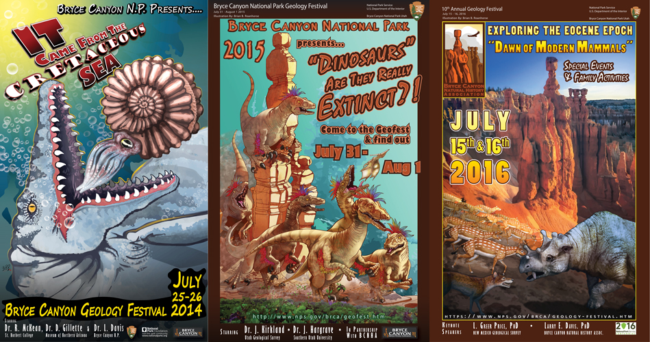 Geology Festival banner collage 2014-2016