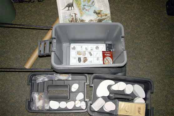 Paleontology Discovery Chest and contents