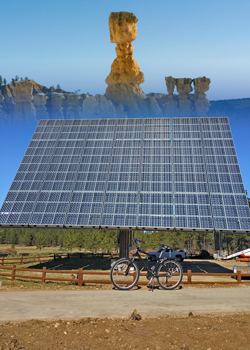Shared-Use-Path, Solar Array, Thor's Hammer collage
