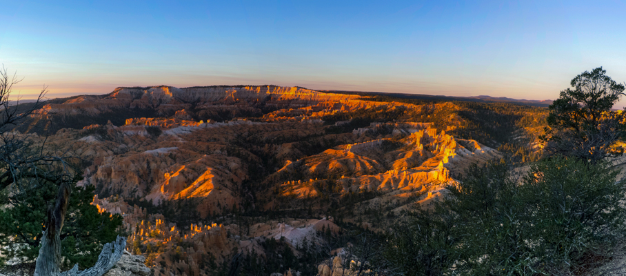 Overlooking the Bryce Amphitheater.