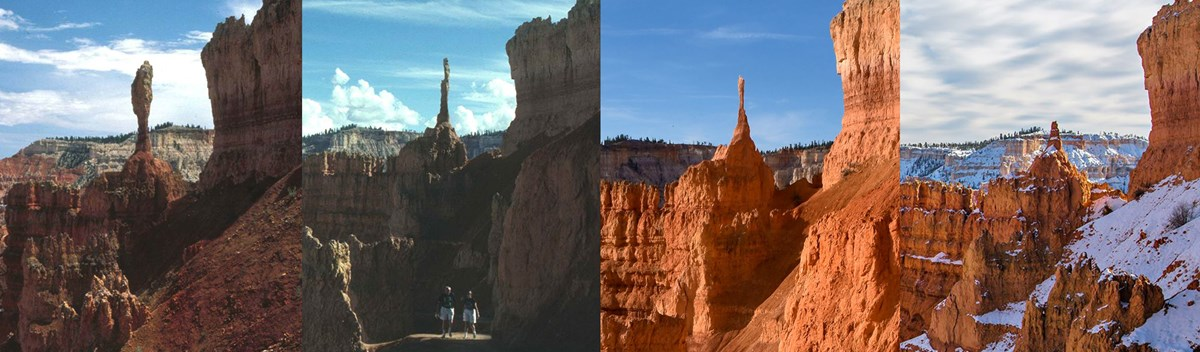 Sequence showing erosion of iconic hoodoo known as the Sentinel