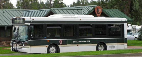 Shuttle Bus at staging area