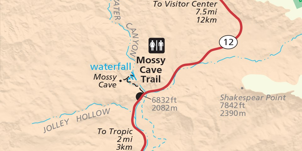 Map of Mossy Cave Area